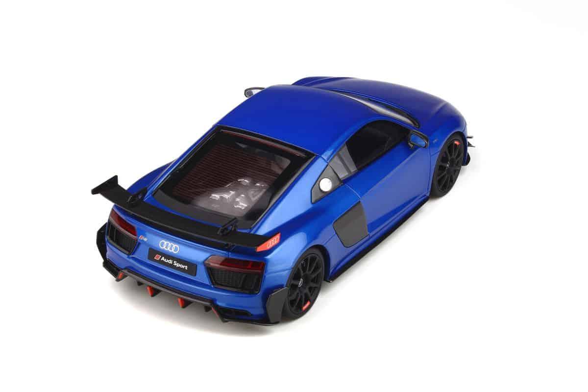 GT254 GT SPIRIT Audi R8 Performance Parts Ara Blue 1//18